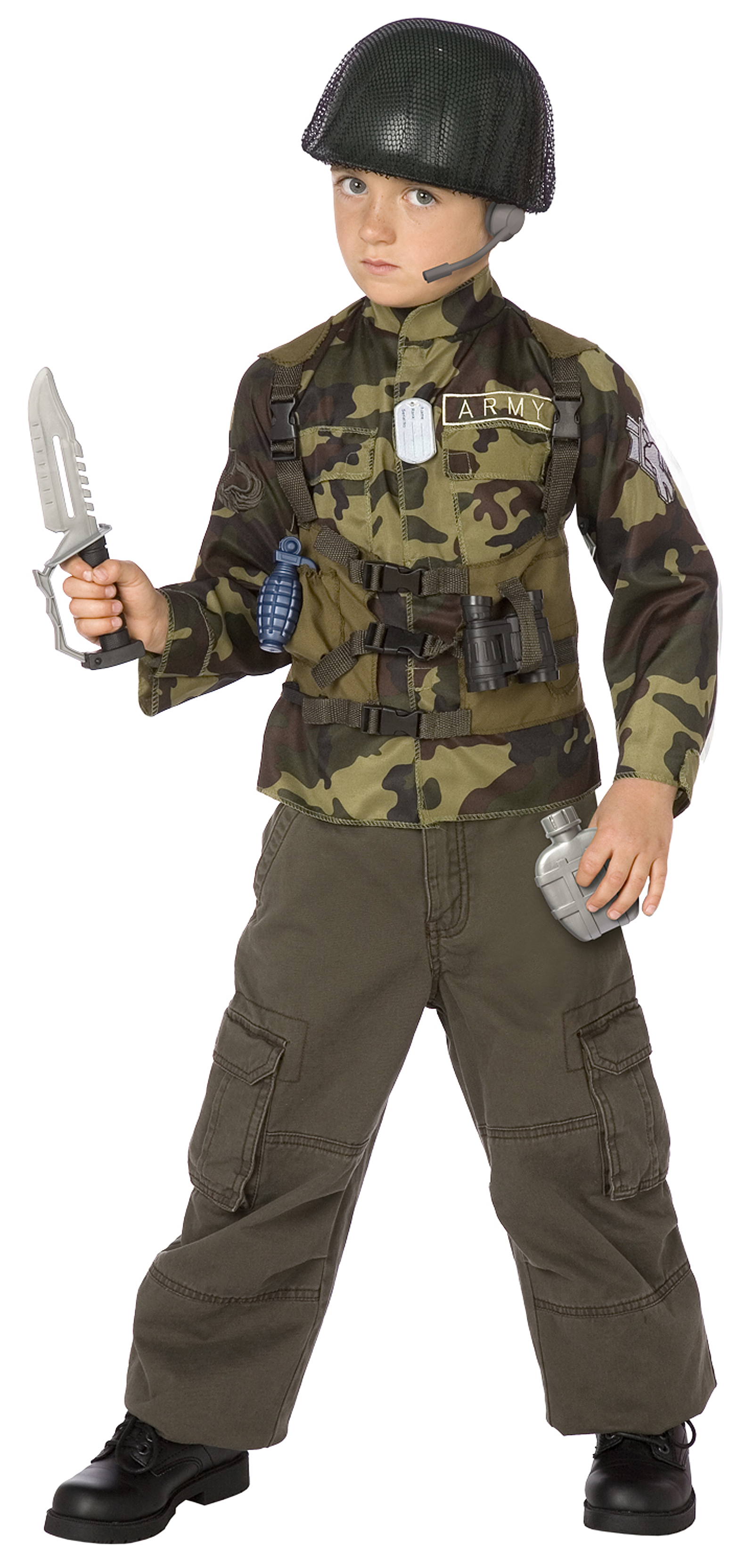Rangers us Army Shoes Army Ranger Child Costume Kit