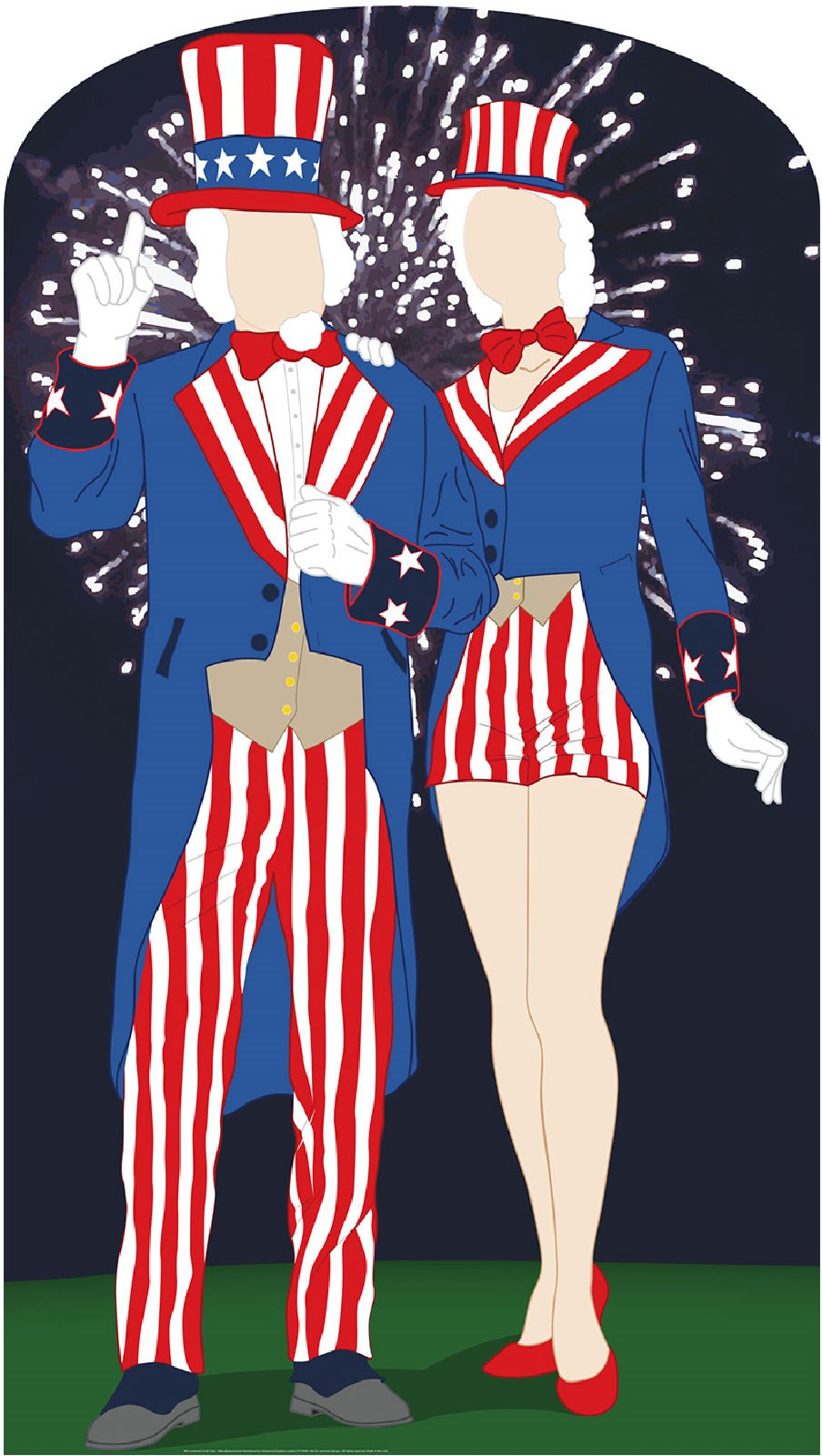 Aunt and Uncle Sam Cardboard Stand Up 6.4