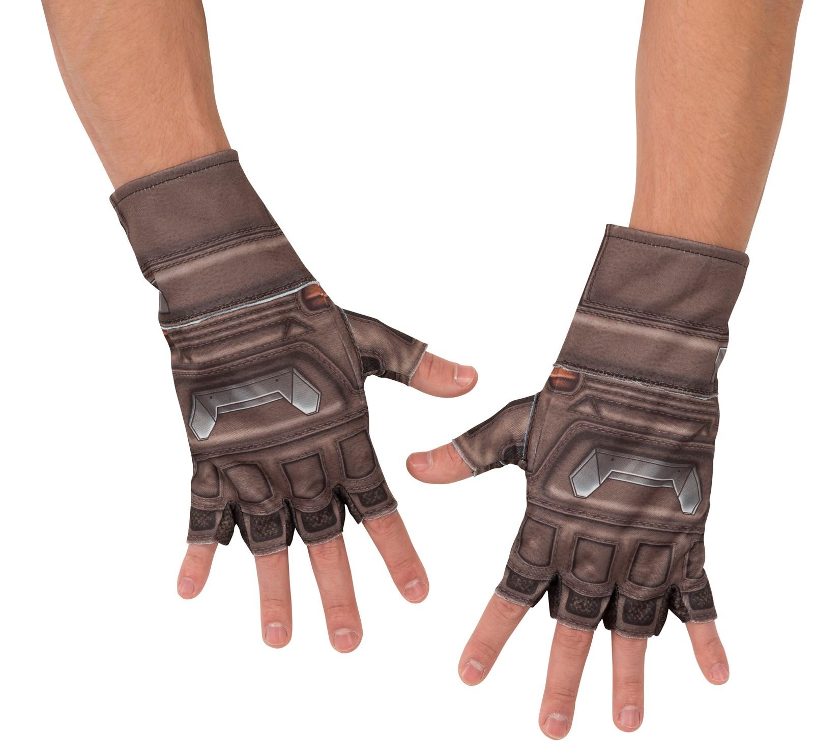 Mens leather kid gloves - Avengers 2 Age Of Ultron Captain America Kids Gloves