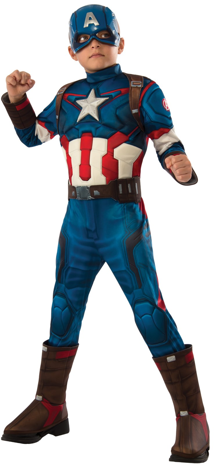 Captain America (Civil War) costume is brand new, size This costume came from a merchandise return pallet. All pieces are there & new, mask is sealed.
