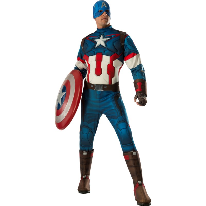 Avengers 2 - Age of Ultron Deluxe Captain America Costume For Men $39.99 AT vintagedancer.com