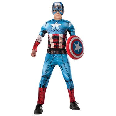 Avengers Assemble Deluxe Captain America Kids Costume