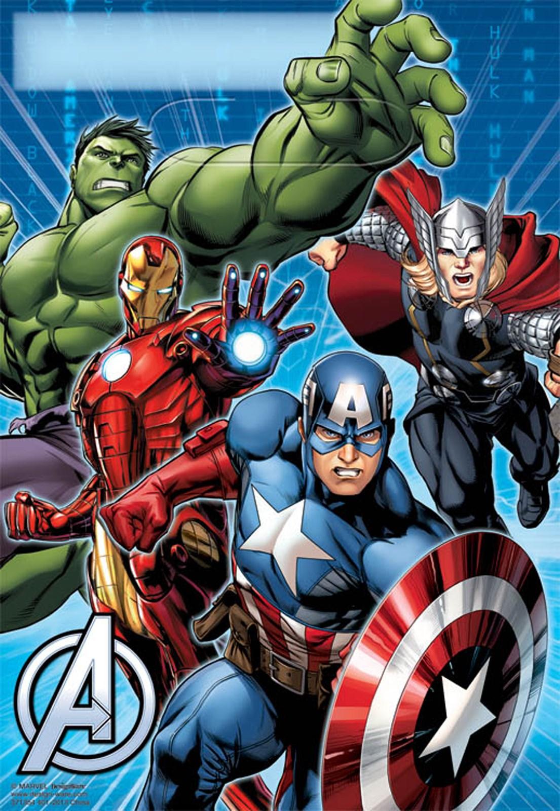 Avengers Assemble Plastic Treat Bags 8