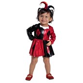 Baby Harely Quinn Dress & Diaper Cover Set Costume