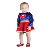 Baby Supergirl Dress & Diaper Cover Set Costume