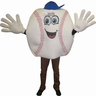 Baseball Waver Adult Costume & Gloves