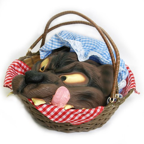 Basket with Wolf's Head