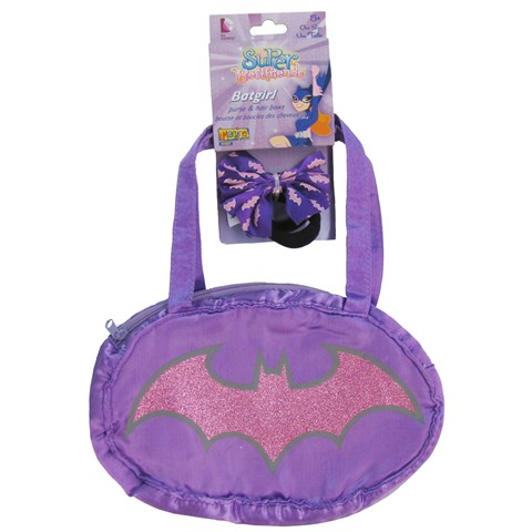 Batgirl Purse & Hair Bows Set Child