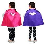 Batgirl/Supergirl Reversible Cape Child