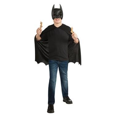 Batman Mask, Cape & Batarangs Accessory Set- Child One Size