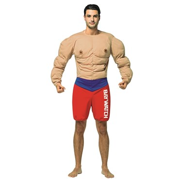 Baywatch - Muscles Lifeguard Adult Costume
