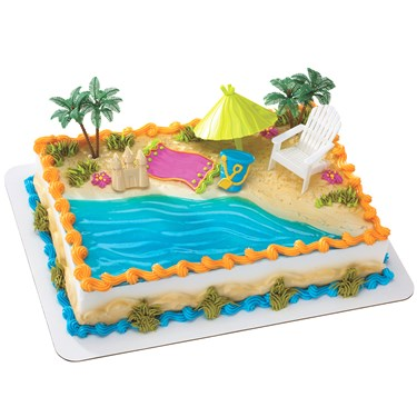 Beach Chair & Umbrella Cake Decorations (6)