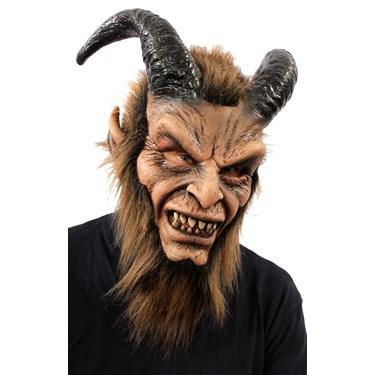 Beautiful Beast Full Mask w/ Horns & Faux Fur