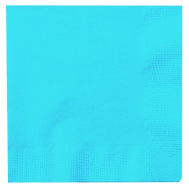 Bermuda Blue (Turquoise) Beverage Napkins (50 count)