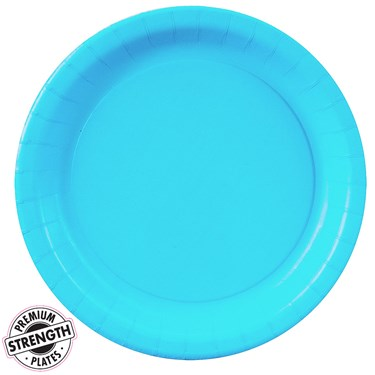 Bermuda Blue (Turquoise) Paper Dessert Plates (24 count)