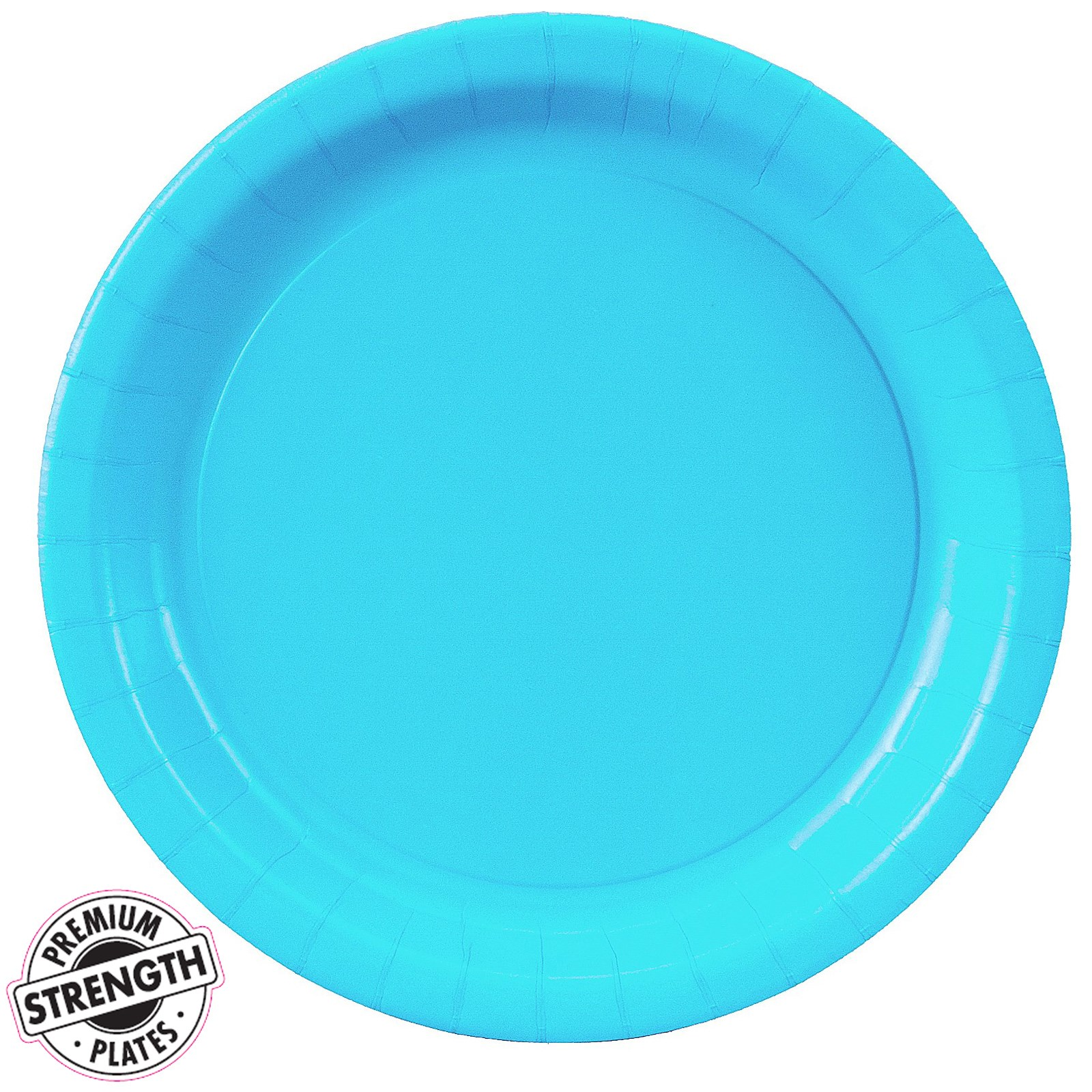 bermuda blue turquoise paper dinner plates 24 count. Black Bedroom Furniture Sets. Home Design Ideas