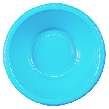 Bermuda Blue (Turquoise) Plastic Bowls (20 count)