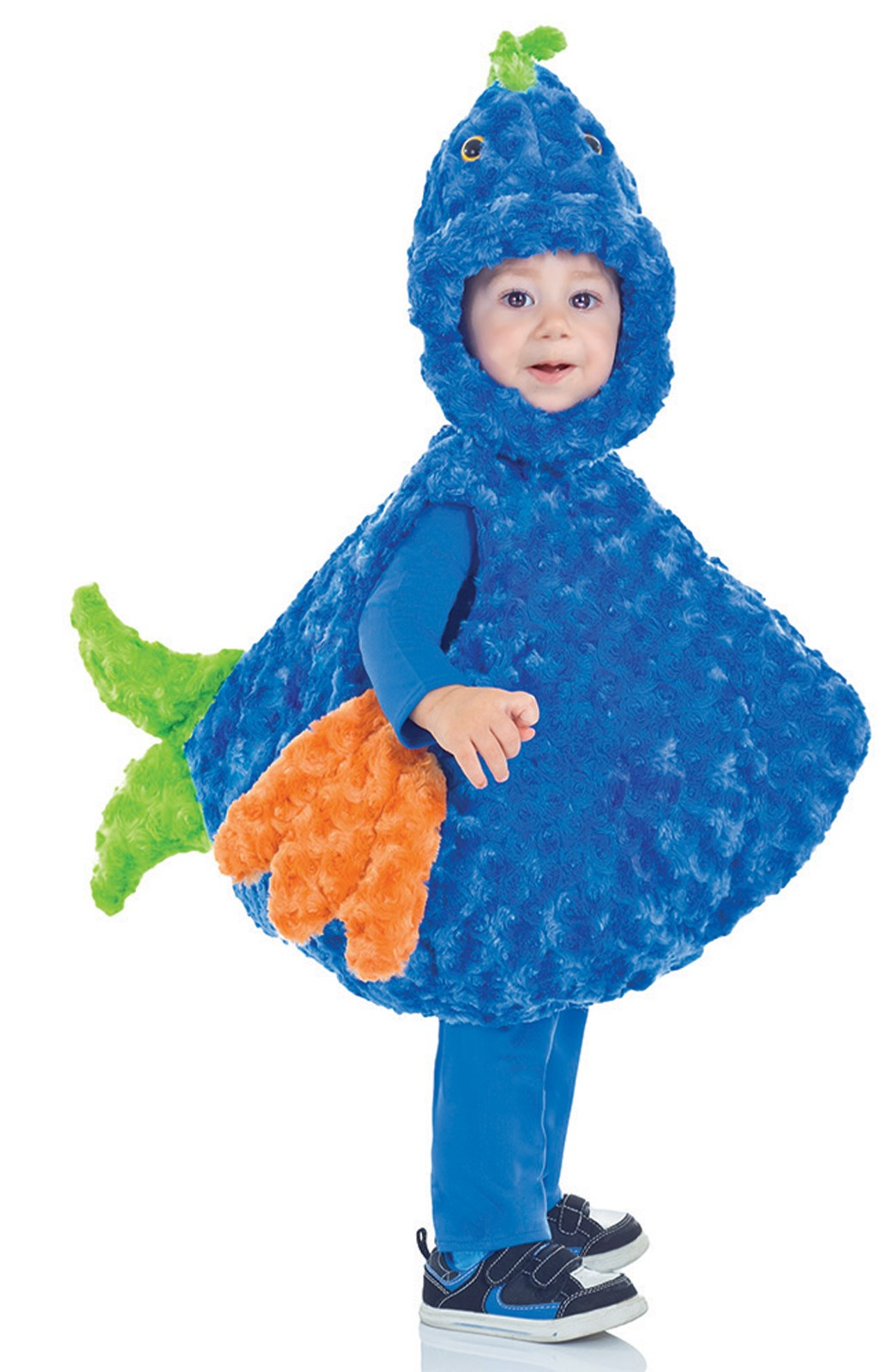 Big Mouth Blue Fish Costume For Toddlers