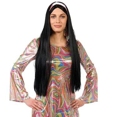 Black 60's Female Adult Wig