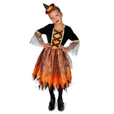 Black and Orange Witch Child Costume