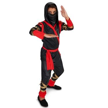 Black & Red Ninja Child Costume