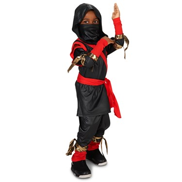 Black & Red Ninja Toddler Costume
