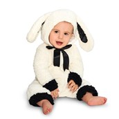 Black and White Baby Lamb Infant Costume