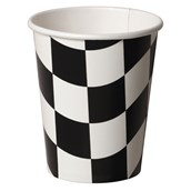Black and White Check 9 oz. Paper Cups (8 count)