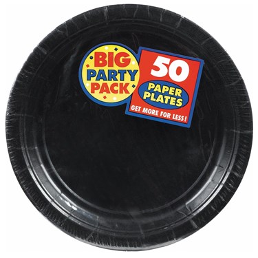 Black Big Party Pack - Dinner Plates (50 count)