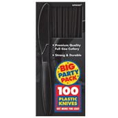 Black Big Party Pack - Knives (100 count)