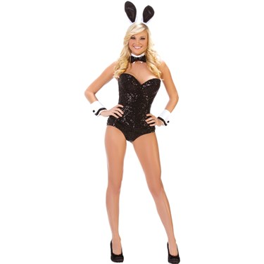 Black Bunny Party Costume for Women