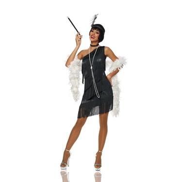 Black Dazzling Flapper Women's Costume