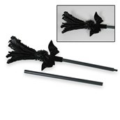 Black Feather Sparkle Broom