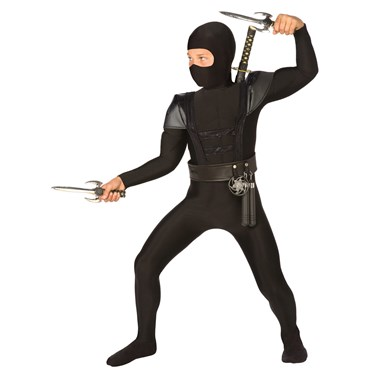 Black Fighter Ninja Child Costume