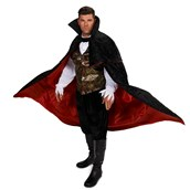 Black Gothic Vampire Male Adult Plus Costume