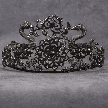 Black Jeweled Adult Tiara