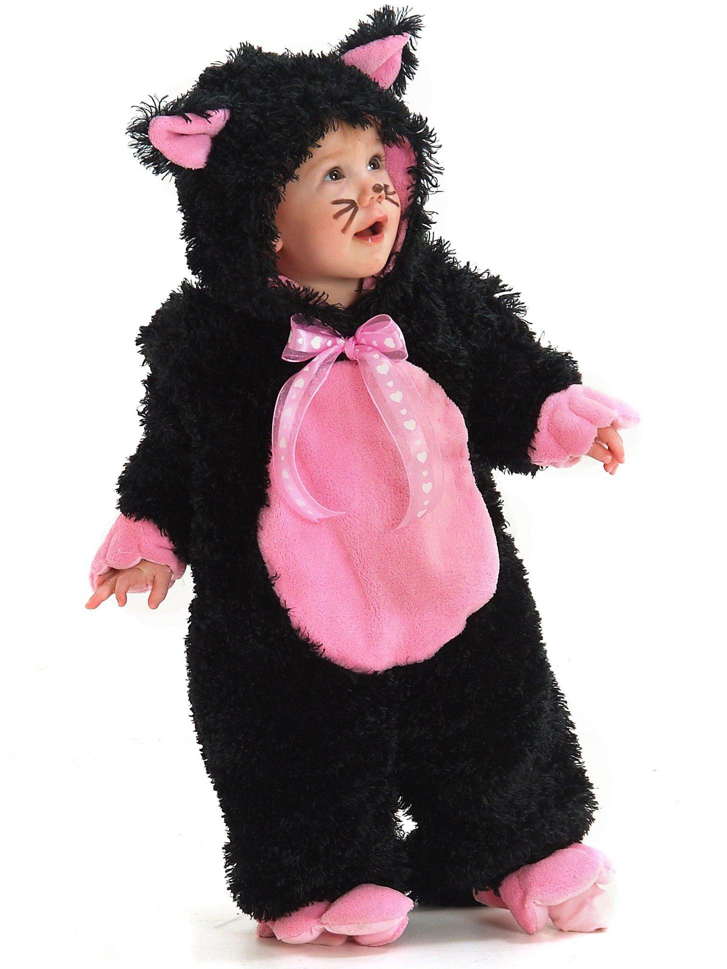 black kitty infant toddler costume buycostumescom - Baby Cat Halloween Costume