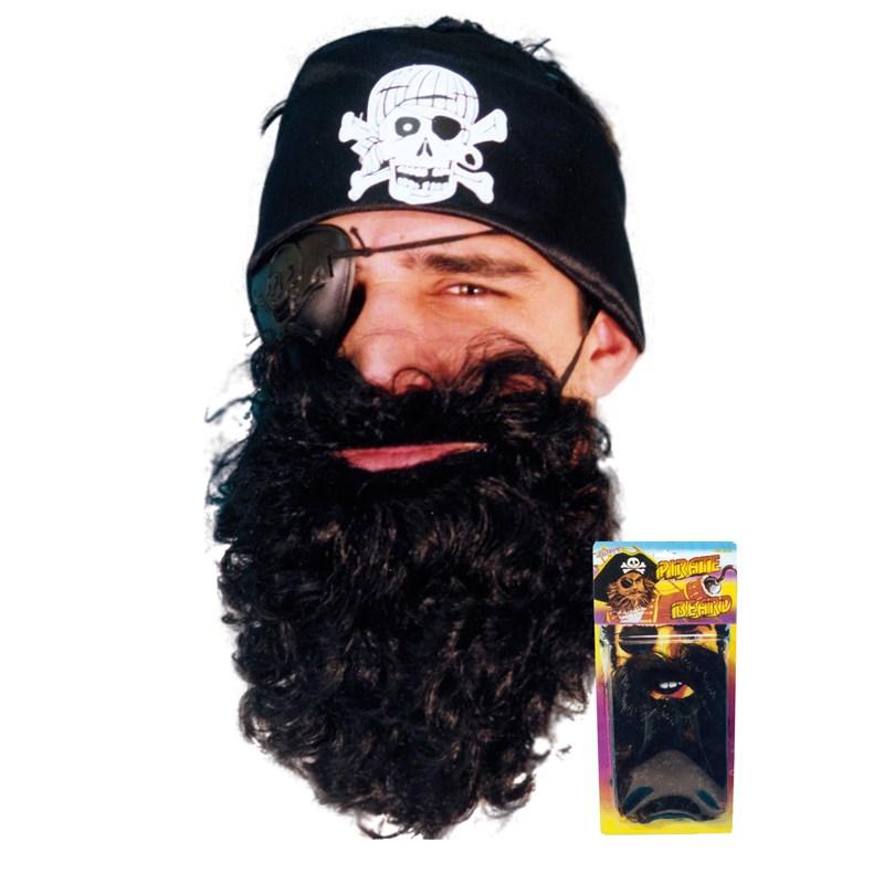 Adult Black Pirate Beard- Black: One-Size