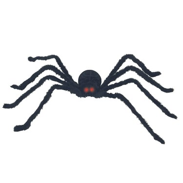 Black Posable Spider with Light and Sound