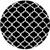 Black Quatrefoil Dessert Plates (8)