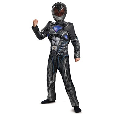 Black Ranger Movie 2017 Classic Muscle Child Costume