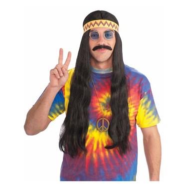 Black Unisex Hippie Wig