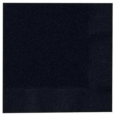 Black Velvet (Black) Beverage Napkins (50 count)