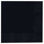 Black Velvet (Black) Beverage Napkins (50 count)