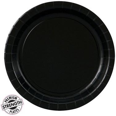 Black Velvet (Black) Dessert Plates (24 count)