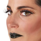 Black with Red Gemstone Eyelashes