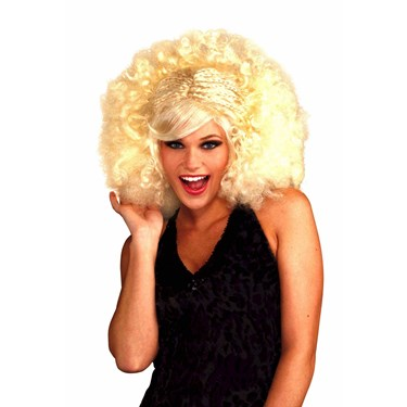 Blonde Pop Afro Adult Wig
