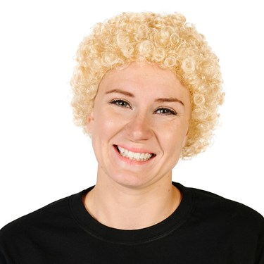 Blonde Tight Fro Adult Wig