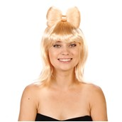 Blonde with Bow Adult Wig