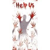 Bloody Halloween Door Cover
